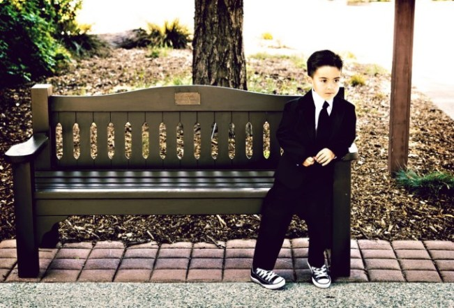 Black 2 piece Boys Suit