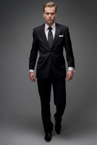 Black Wool Wedding Suit