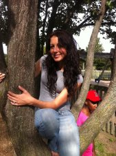 Gia took this of me climbing a tree at our local park in the Spring of 2011