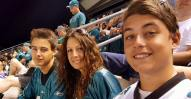 Jake, Me, and Colby. Pre-Season Eagles Game 2015