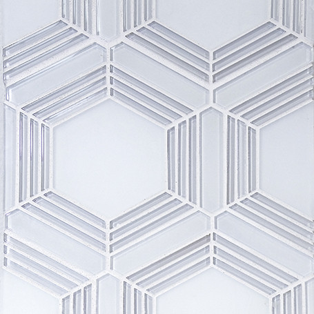 frosted glass mosaic from the tile