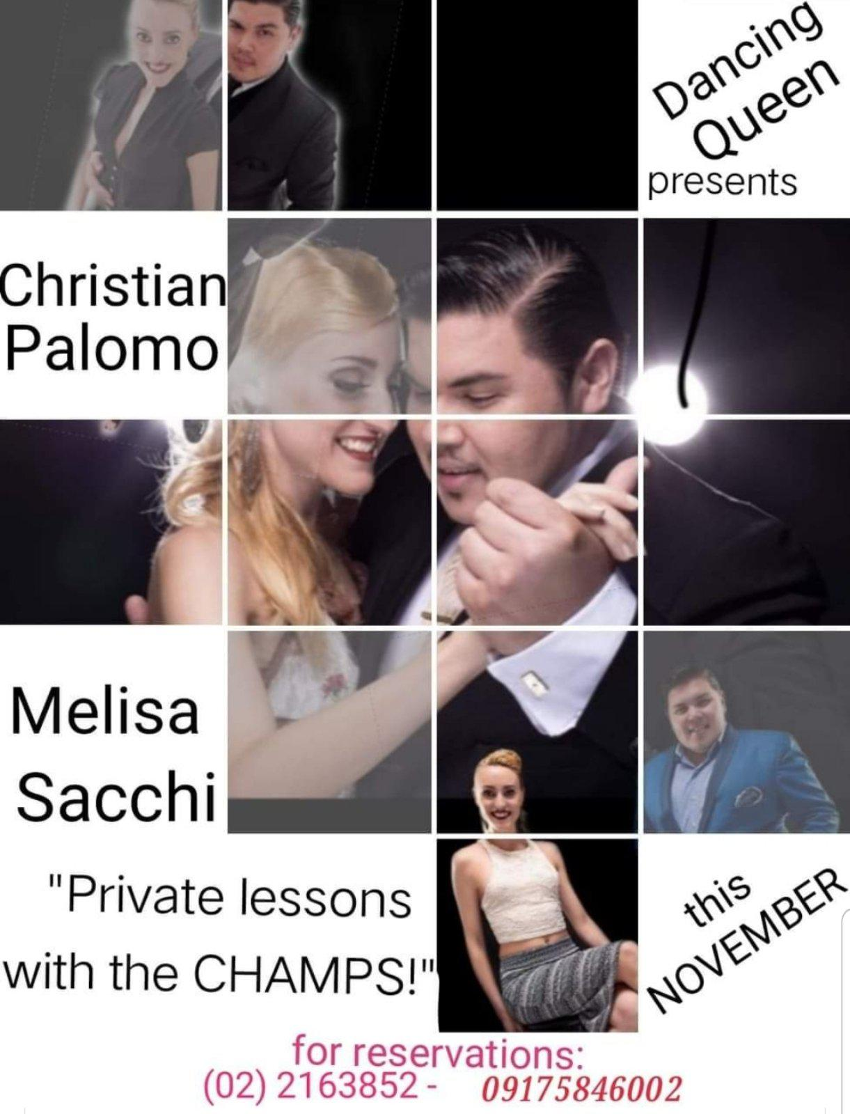 Private Argentine Tango lessons with Melisa Sacchi and Cristian Palomo. Call 0917.584.6002 for reservations