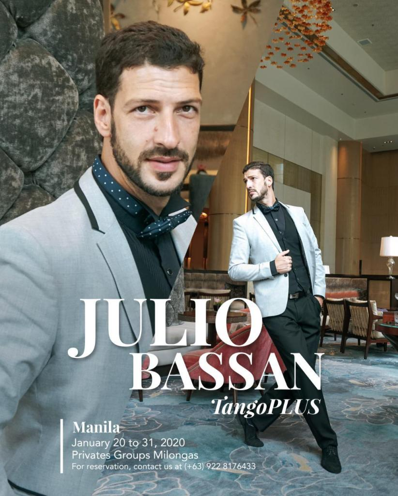 Julio Bassan in Manila: TangoPLUS January 2020. Private and Group lessons. Contact +639228176433