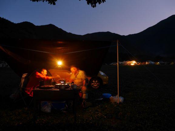 ふもとっぱら 自作タープキャンプ