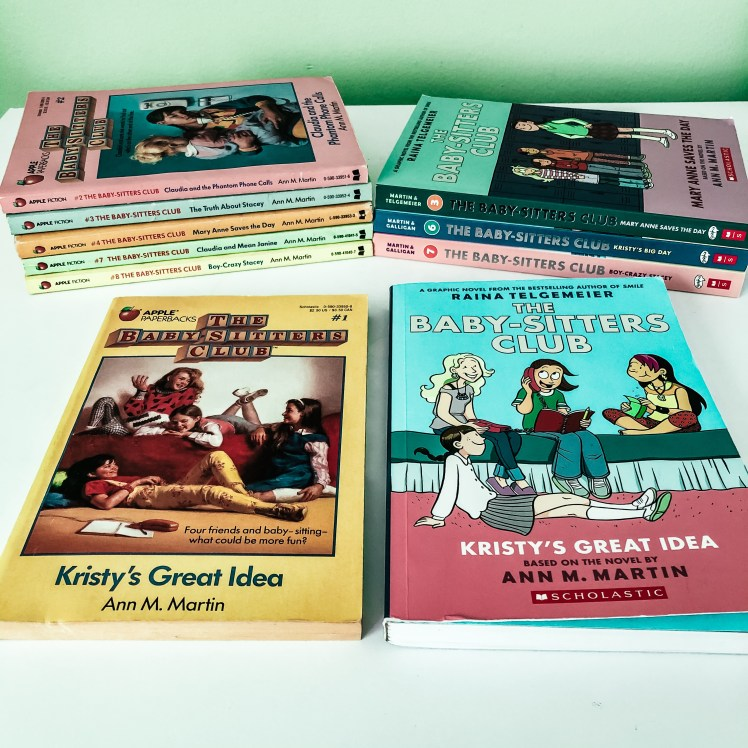 The Baby-Sitters Clubs books: then and now
