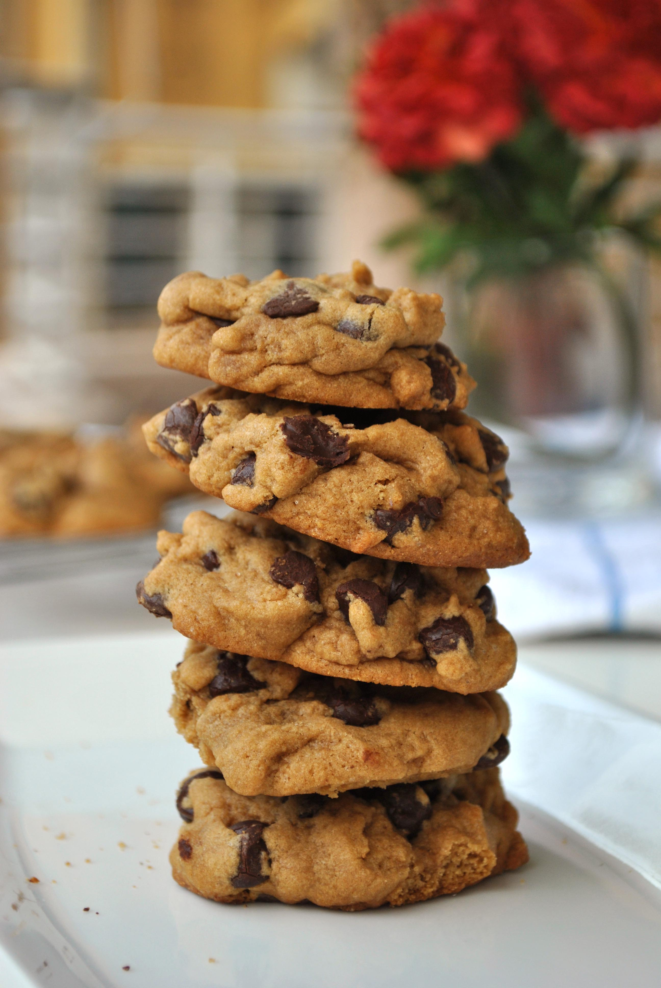 Thick And Chewy Chocolate Chip Cookies Taniabakes