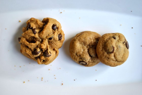 Comparison of chocolate chip cookie shapes