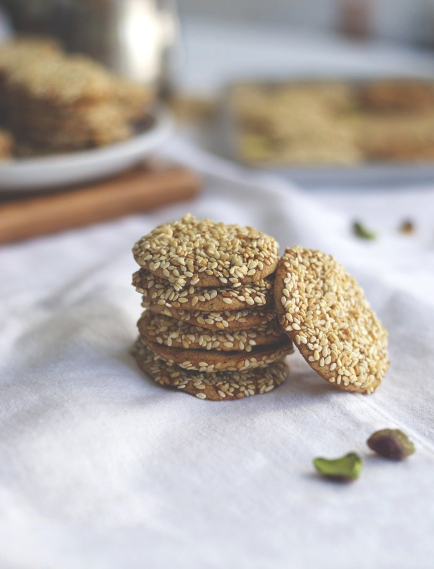 Barazek Sesame Pistachio Cookies | Brownie Box