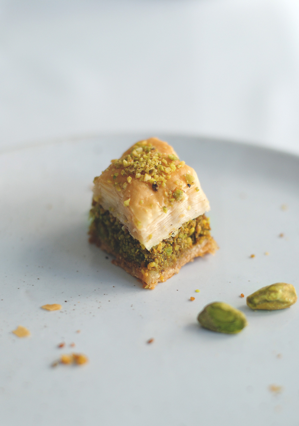 Pistachio Baklava Close up shot