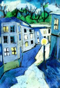 """""""Altstadt"""", Pastel, Schwarze Karton"""