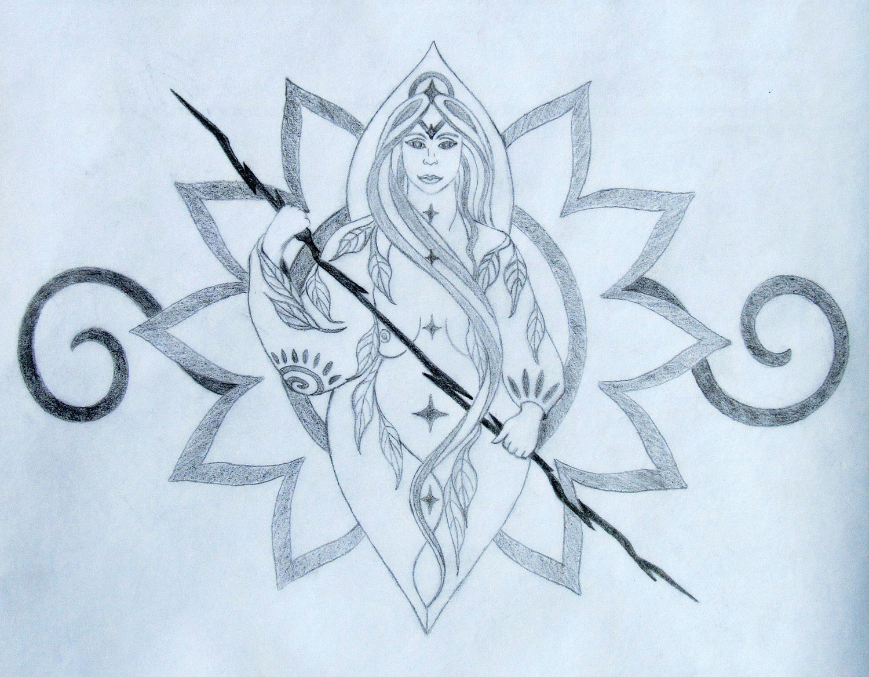 Shiva Tattoo Design Sketch