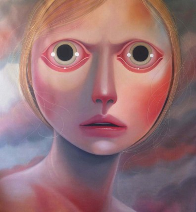 Marianne realizes this is it 73 x 69 inches, oil on canvas, 2015