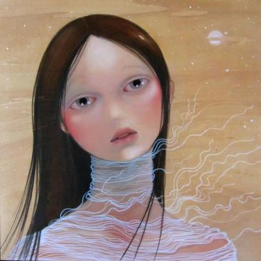 All that never happened 18 x 18 inches, oil on wood, 2011