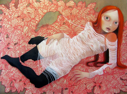 Divine interruptions 30 x 40 inches, oil on wood panel, 2011