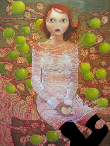 The ripening 30 x 40 inches, oil on wood, 2011