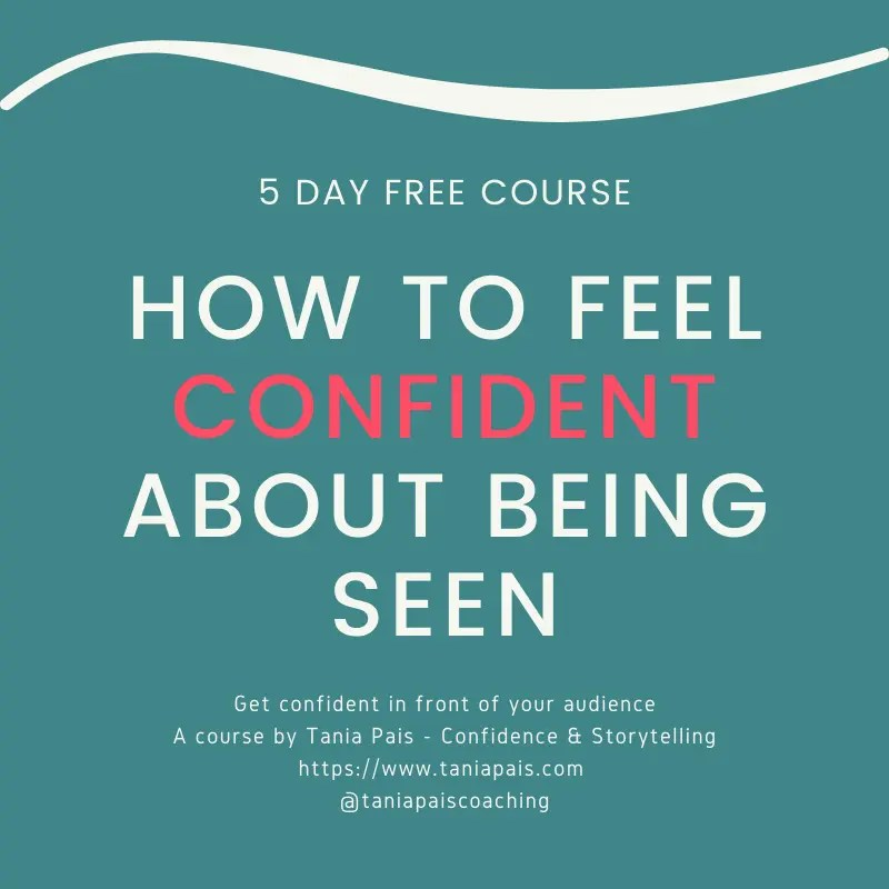How to Feel Confident About Being Seen Free course graphic