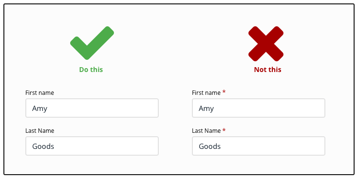 Form UX.