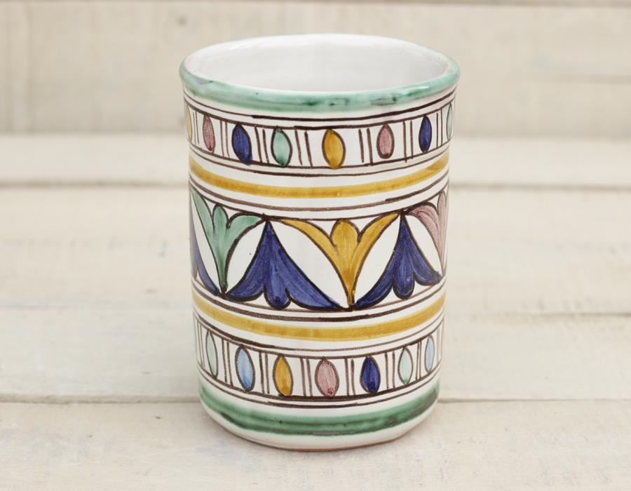 Tarro de utensilio marroqu Portacucharones vaso florero