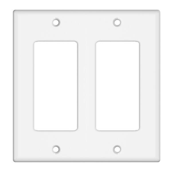 2-Gang Decorator/GFCI Device Wall Plate, Standard Size