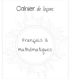 Page de garde du cahier de leçons