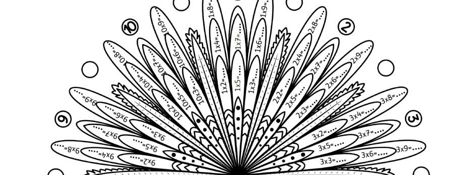 Mandalas des tables de multiplication de 1 à 10