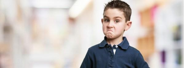 Un élève contrarié, provocateur ou en opposition.