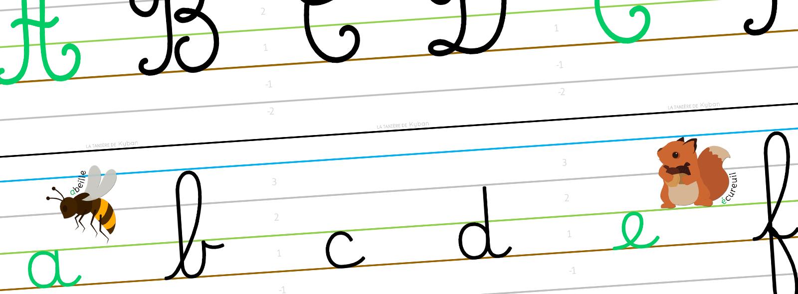 Mes Affichages Alphabet Et écriture Cursive Dumont La