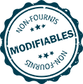 Modifiables non-fournis