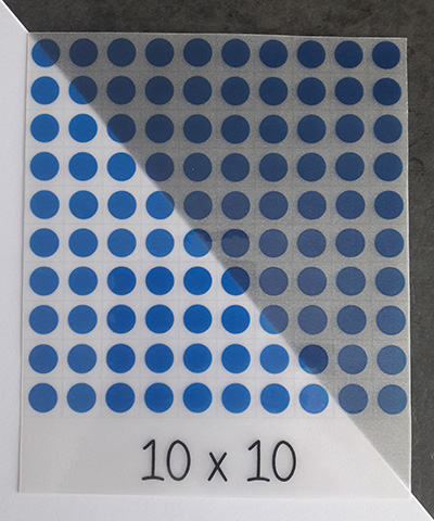 Carte à manipuler transparente - multiplications