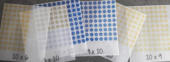 Cartes transparentes pour travailler la multiplication