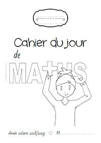 Page de garde 2018/2019 - Cahier du jour de mathématiques
