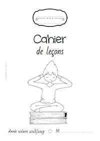Page de garde 2018/2019 - Cahier de leçons - français et maths