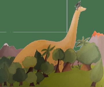 Le loup qui voyageait dans le temps - les dinosaures