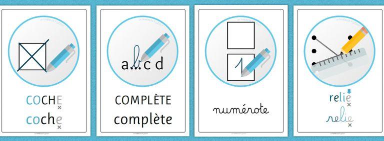 Consignes - affichages avec pictogrammes