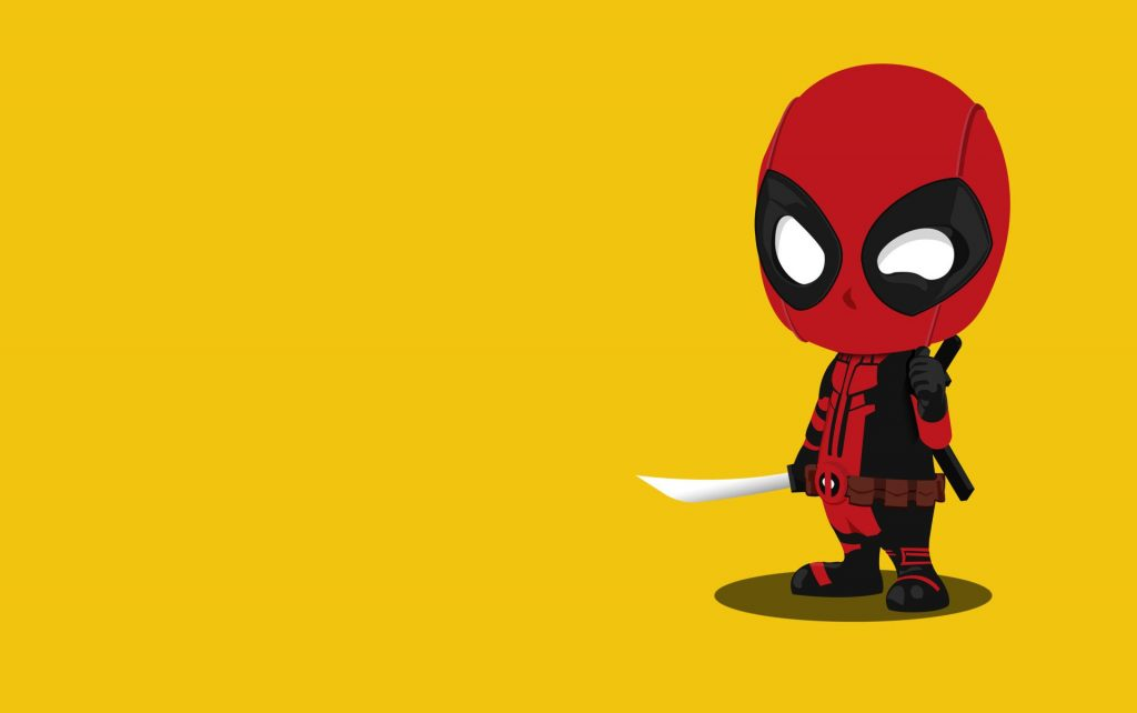 Kid Deadpool Minimalism Wallpaper