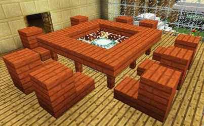 living room dining furniture minecraft