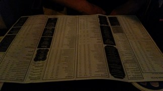 The Porterhouse menu - oh that's just alcohol