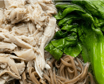 Chicken Soba Noodle Soup with Bok Choy