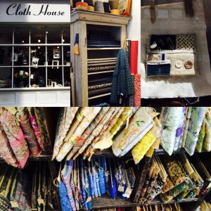 Auf der Jagd nach Vintage-Sari Borten im Cloth House - immer schön fokussiert bleiben...