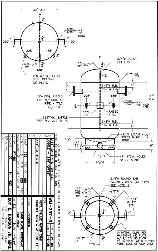 Chilled Water Buffer Tanks Prices, Designs ASME water tanks
