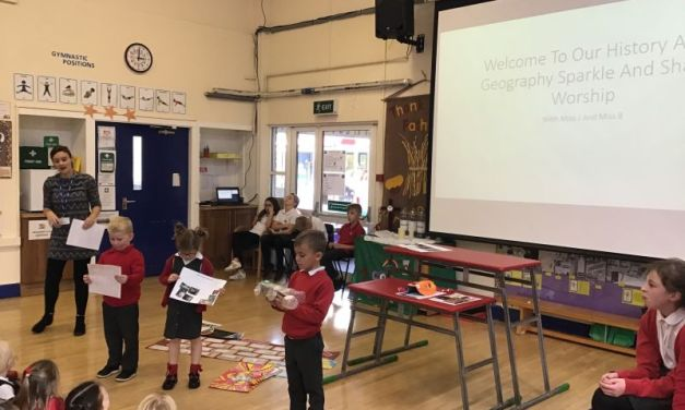 Celebrating History and Geography in our Share and Shine Worship…