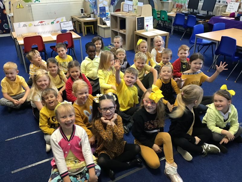 Today at Tankersley the children have been dressed in yellow to show support and raise money for the charity Young Minds.