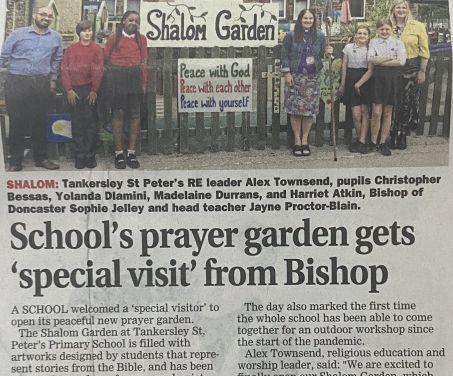 Our Prayer Garden hits the News…