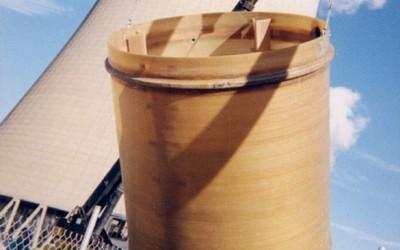 Field installed fiberglass tank