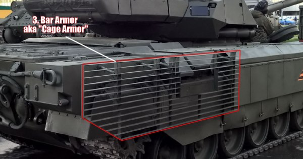 T-14 Armata Tank Bar armour