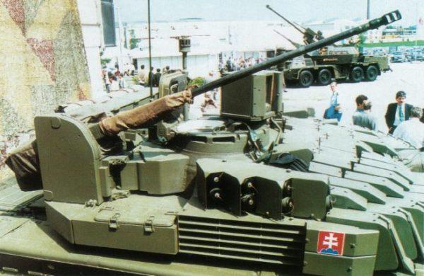 The T-72M2 Tank 20mm chain gun