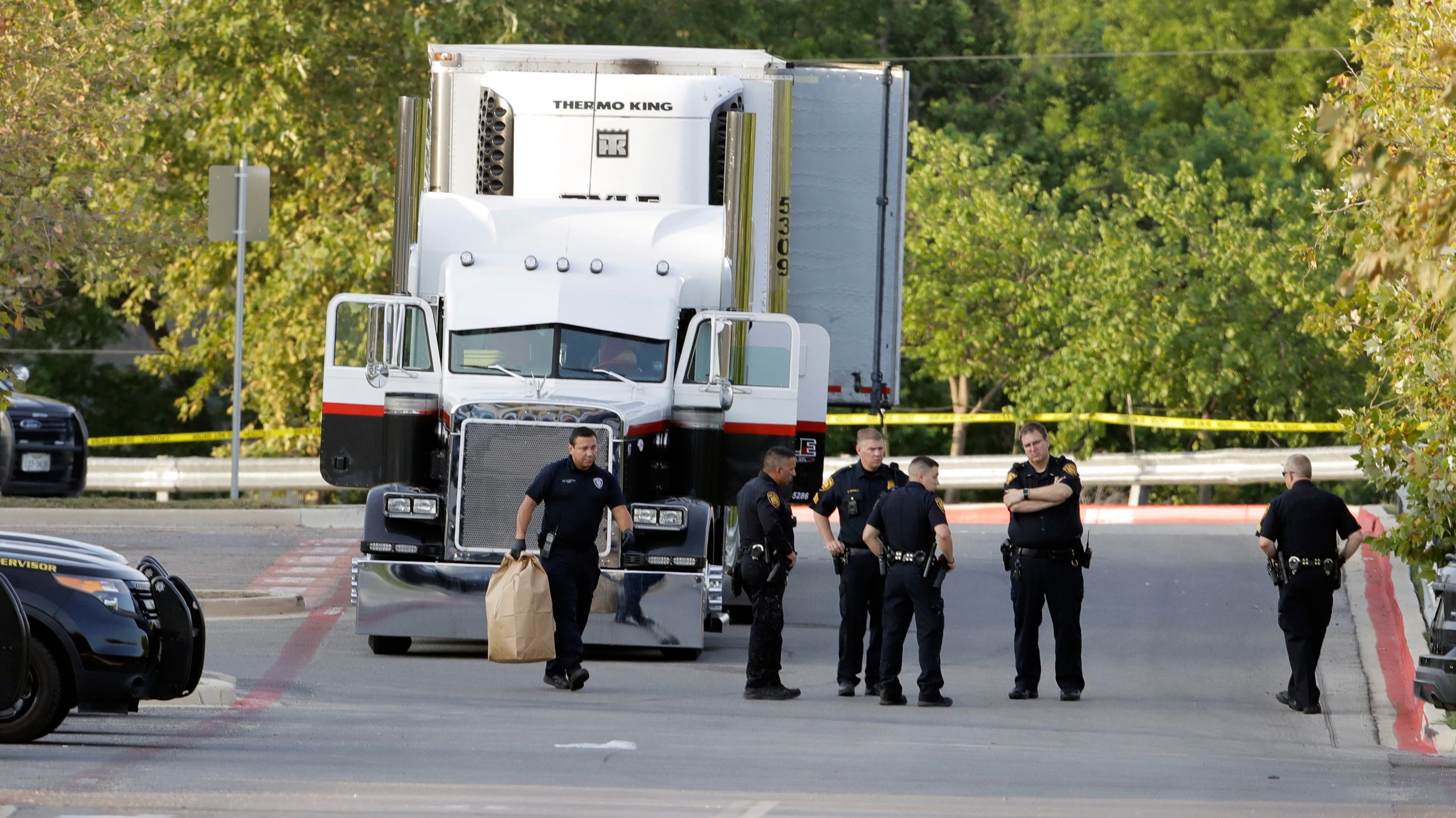 Iowa trucking company that owned the trailer used in a high-profile human trafficking case in which 10 immigrants died