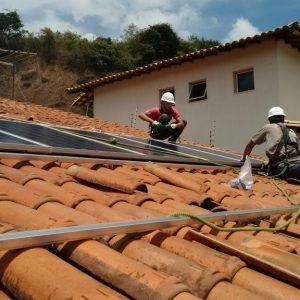 02 - Instalação dos módulos fotovoltaicos