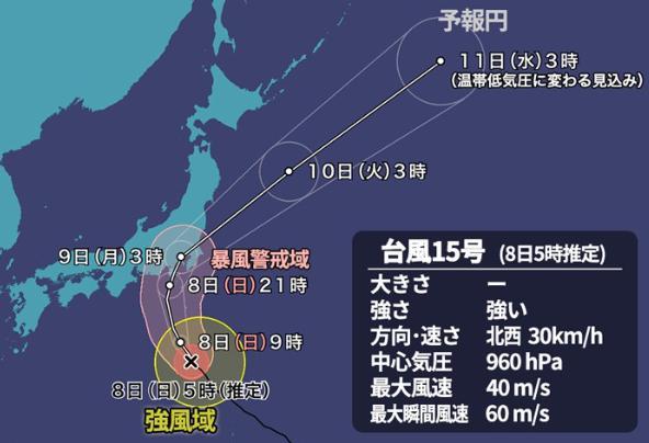 台風15号2019の進路や千葉県浦安市への被害は?東京ディズニーランドへの影響は?2