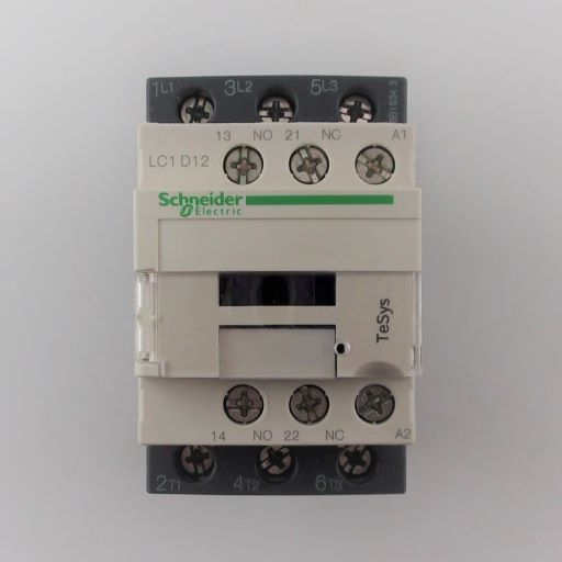LC1D12F7-Schneider Electric 3 Pole Contactor - 12 A, 110 V ac Coil, TeSys D, 3NO, 5.5 kW